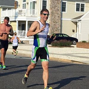 William Wiley running a triathlon